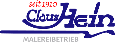 Das Logo der Claus Hein Malereibetrieb GmbH: Malermeister und Malerfirma seit 1910 für Hamburg und Umgebung, Betriebsleiter Torsten Schellack.